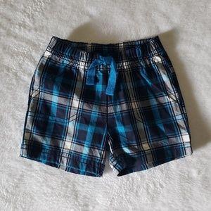 Baby plaid shorts
